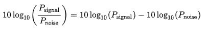 Signal Noise Logaritmic