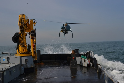 High Eye Helicopter UAV Boat Operation