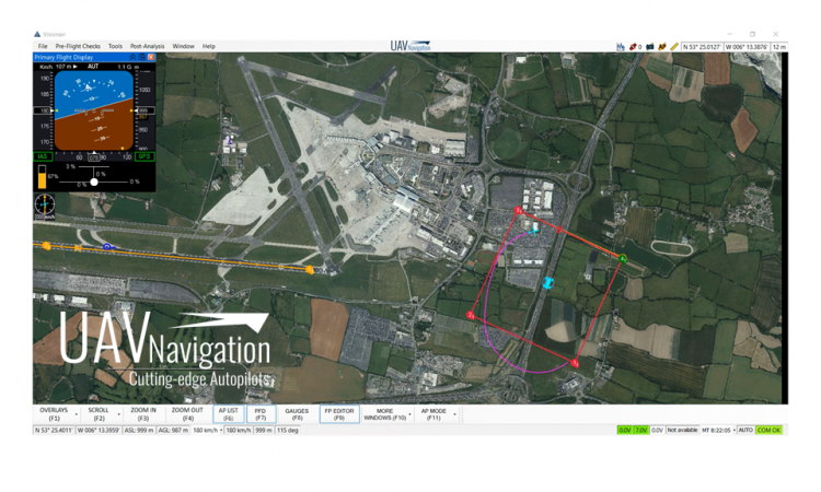 Referenced Navigation with UAV Navigation's Flight Control System Version 8